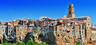 City of Pitigliano in the province of Grosseto in Tuscany