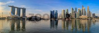 Panorama of Singapore city skyline