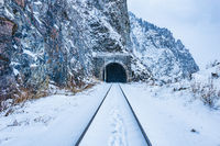 View of the old tunnel. Circum-Baikal Railway.