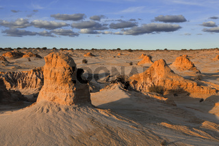 Mounds in the desert landscape outback Australia
