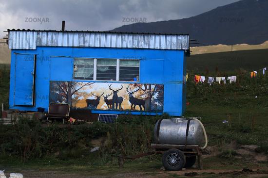 Herdsmen's mobile home in central Kyrgyzstan