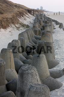 Tetrapoden aus Beton bei Westerland auf Sylt