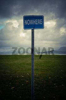 Conceptual Nowhere Sign