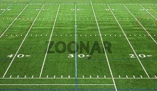 Spielfeld eines American Football Stadions