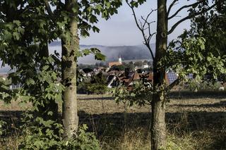 Blick auf Moosbach in der Oberpfalz