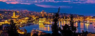 City of Split aerial view at dawn