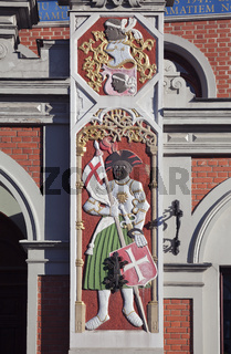 Bas-relief on the House of the Blackheads in Riga