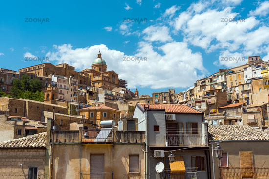 The old city of Piazza Armerina in Sicily, Italy