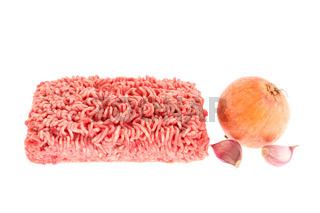 Hackfleisch und Gemüse.