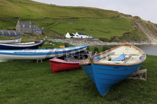 Fishing boats, Unst Island, Shetland, Scotland