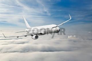 Passenger Aircraft Mid-air
