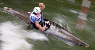 Wildwasser-Slalom, Impression/Typical, mitgezogen/verwischt
