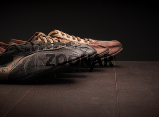 Sport shoes on wood