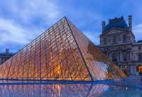 The Louvre Pyramid in Paris France
