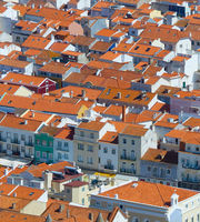 Portugal red roofs aerial view