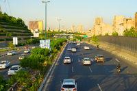 Tehran road traffic. Iran