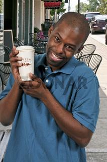 Black Man Drinking Coffee