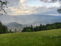 Bruneck (Brunico) from above