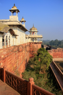View of Musamman Burj in Agra Fort, Uttar Pradesh, India