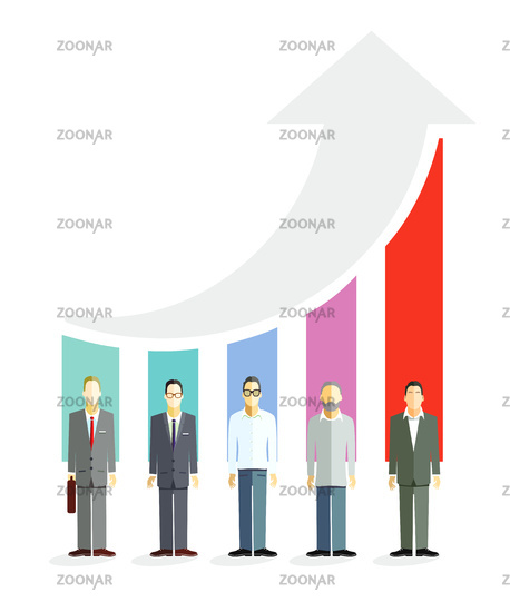 Business career, competition Symbolic illustration