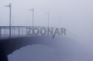 Rad- und Fußgängerbrücke über den Rhein in Konstanz