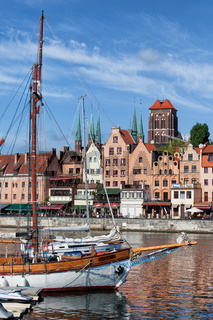 Old City Of Gdansk River View