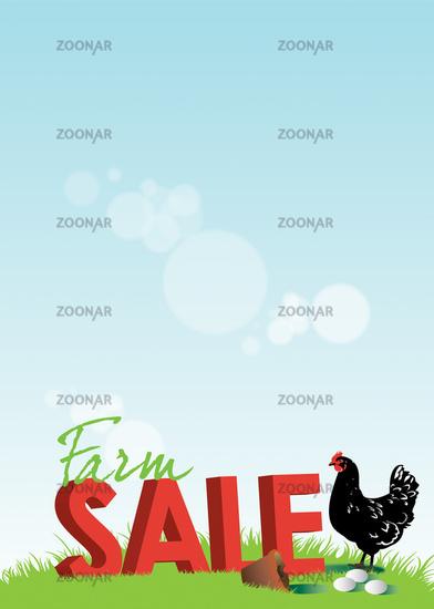 Farm Sale Poster