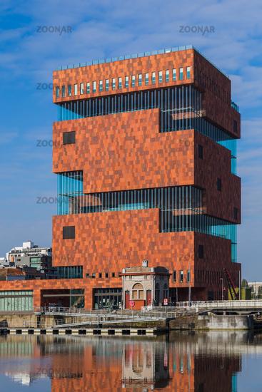 Building of the MAS museum in Antwerp Belgium