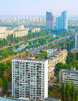 Kiev aerial view, Ukraine