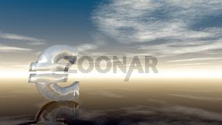 eurozeichen unter wolkenhimmel - 3d illustration