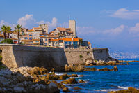 Seascape of Antibes in Provence France