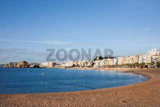 Sea Bay and Beach in Blanes