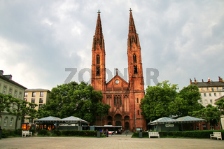 St. Bonifatius church on Luisenplatz square in Wiesbaden, Hesse,