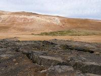 landscape at volcano Leirhnjúkur in Iceland
