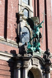 St Michael sculpture of St Michael's church