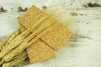 Crisp bread and ears of corn