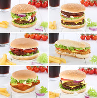 Hamburger Sammlung Collage Cheeseburger Menu Menü Menue Getränk