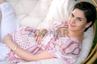 Pregnant women outdoor
