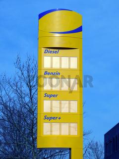 Tankstellenschild - Price Sign Petrol Station