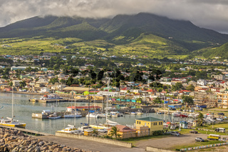 Boats In The Harbour, Basseterre,  St. Kitts, West Indies
