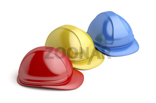 Safery helmets with different colors