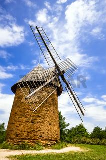 Historische Windmühle, Toulouse, Frankreich