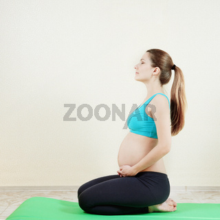 pregnant woman in action