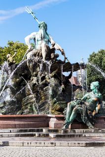 Neptune Fountain in Berlin city