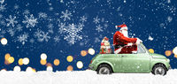 Santa Claus on car