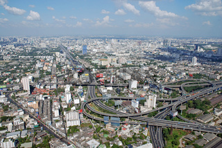 Blick vom Baiyoke Tower, hoechstes Gebaeude Thailands, Bangkok, Thailand, Asien / Look from the Baiyoke tower, topmost building of Thailand, Bangkok, Thailand, Asia,
