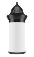 blank advertising column isolated on white background