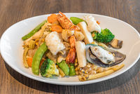 Fried rice noodle seafood