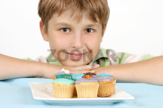 Cup Cakes on a white plate