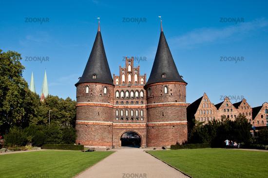 Luebeck, Germany, Historical Holstentor City Gate